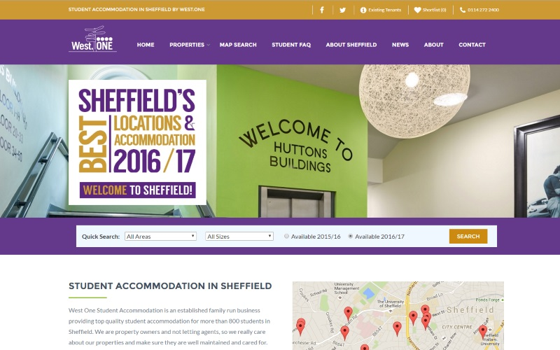 Our new student accommodation website launched