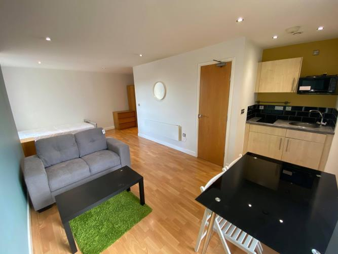 Studio Apartment<br>605 Cube, 2 Broomhall Street, City Centre, Sheffield S3 7SD