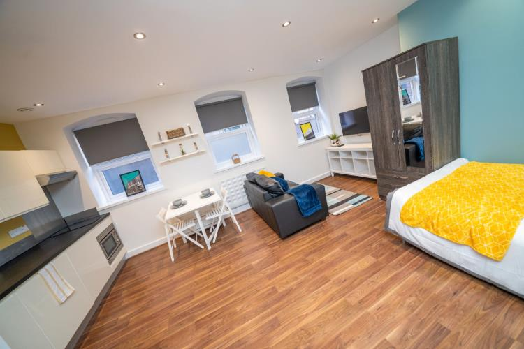 Deluxe Studio Apartment<br>LG02 Huttons Building, 2 Orange Street, City Centre, Sheffield S1 4AQ