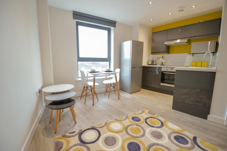 Partitioned Studio Apartment<br>104 Reflect, West One, City Centre, Sheffield S1 4JQ