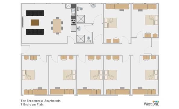 student apartment 7 bedroom ecclesall road sheffield